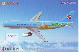 Télécarte  JAPON * KOREAN AIR  (2402)  AVIATION * AIRLINE * Phonecard JAPAN  AIRPLANE * FLUGZEUG - Avions
