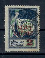 LETTONIA 1920 - SOPRASTAMPATO DIVI RUBLI 2 SU 35 - USATO - Lettonia