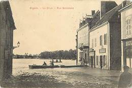 - Saone Et Loire - Ref-A771 - Digoin - La Crue - Inondation Rue Nationale - Magasins - Buvette - Inondations - Crues - - Digoin