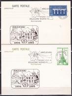 France, Bas Rhin - 2 Entiers De Haguenau De 1984 - Marcophilie (Lettres)