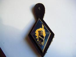 Ancien Insigne Militaire Et Son Cuir 55  DM - DRAGO PARIS - Armée De Terre
