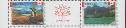 URUGUAY, 2017,150TH ANNIVERSARY OF CANADIAN CONFEDERATION, MOUNTAINS, LAKES, LANDSCAPES, 2v+ TAB - Other