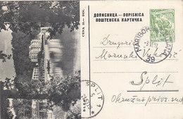 Yugoslavia - Stationery Bled TPO Railway Pmk Bahnpost Maribor-Ljubljana 39 - Postal Stationery