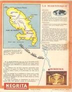 Protège Cahier NEGRITA Quel Parfum! Avec La Carte De La Martinique - Liqueur & Bière
