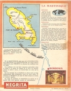 Protège Cahier NEGRITA Quel Parfum! Avec La Carte De La Martinique - Liquor & Beer