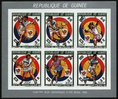 Guinea 1987 - Mi-Nr. 1180-1185 B ** - MNH - Ungez. / Imp - KLB - Olympia Calgary - Guinée (1958-...)