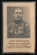 LEON CNOCKAERT   DESSELGHEM 1896 - ELSENE 1924        2 SCANS - Avvisi Di Necrologio