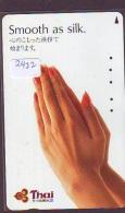 Télécarte  JAPON * THAI AIRWAYS  (2422)  AVIATION * AIRLINE Phonecard JAPAN  AIRPLANE * FLUGZEUG - Avions