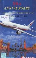 Télécarte  JAPON * MALAYSIAN  AIRLINES  (2424)  AVIATION * AIRLINE Phonecard JAPAN  AIRPLANE * FLUGZEUG - Avions