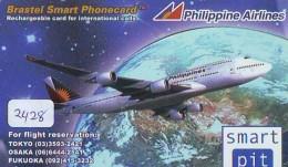 Télécarte  JAPON * PHILIPPINE AIRLINES  (2428)  AVIATION * AIRLINE Phonecard JAPAN  AIRPLANE * FLUGZEUG - Avions