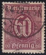 Deutsches  Reich   .    Michel   .   Dienst   66         .     O     .     Gebraucht   .   /     .    Cancelled - Servizio