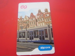 AMSTERDAM Titre De Transport  Ticket Billet Simple Tramways Tramway Pays-Bas  Europe GVB 1 Heure One Hour 1 Uur - Tram