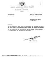 1966 -Courrier De Remerciements Signé Pierre Sabbagh ORTF Direction De La Television - Other Collections