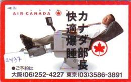 Télécarte  JAPON * AIR CANADIAN  (2437)  AVIATION * AIRLINE Phonecard  JAPAN AIRPLANE * FLUGZEUG - Airplanes