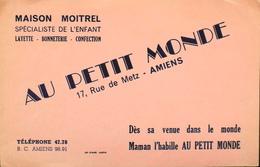 BUVARD ANCIEN - AU PETIT MONDE à Amiens - Bon Etat - Textile & Clothing