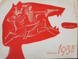 BUVARD ANCIEN - NICOLAS Good Luck In 1955 - Bon Etat - Buvards, Protège-cahiers Illustrés
