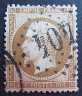 R1494/203 - NAPOLEON III N°21b Bistre-brun - GC 404 : BEAUVAIS (Oise) - 1862 Napoleon III