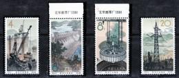 China Chine Cina 1964, HYDROPOWER STATIONS, Mi 834-837 Perfect Condition - OG MNH ** - Nuovi