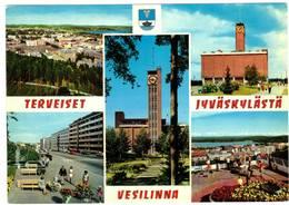 JYVASKYLA - TERVEISET   - VESILINNA SUOMI FINLAND - - Finlandia