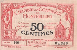 _ (34) Herault Montpellier .. Chambre De Cmmerce, Billet Necessite 50 Centimes .. 11 Octobre 1917 . Serie 116 .superbe - Chambre De Commerce