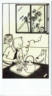 Hergé Dessinateur. 60e Anniversaire De Tintin. Carton D'Invitation. 1989. Musée D'Ixelles. - Livres, BD, Revues