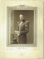 Photo S/Carton. Militaire Et Sabre. Foto Stern, Bruxelles. - Oorlog, Militair