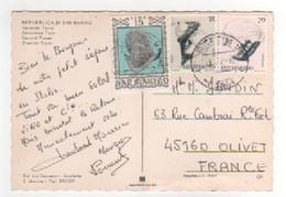 Beaux Timbres , Stamps Sur CP , Carte , Postcard Pour La France - Lettres & Documents
