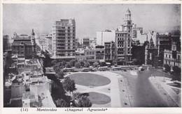 MONTEVIDEO, DIAGONAL AGRACIADA. CIRCA 1940's-  BLEUP - Uruguay