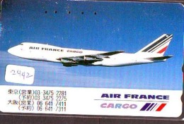 Télécarte  JAPON * AIR FRANCE (2442)  AVIATION * AIRLINE Phonecard  JAPAN AIRPLANE * FLUGZEUG - Airplanes