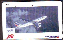 Télécarte  JAPON * AIR FRANCE (2443) JTB *  AVIATION * AIRLINE Phonecard  JAPAN AIRPLANE * FLUGZEUG - Avions
