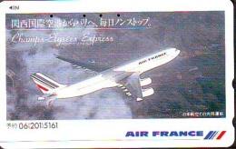 Télécarte  JAPON * AIR FRANCE (2443b) CHAMPS ELYSEES EXPRESS *  AVIATION * AIRLINE Phonecard  JAPAN AIRPLANE * FLUGZEUG - Avions