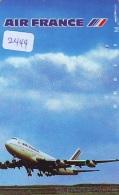 Télécarte  JAPON * 290-1551 * AIR FRANCE (2444)  AVIATION * AIRLINE Phonecard  JAPAN AIRPLANE * FLUGZEUG - Avions