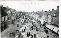 Cpa De Aumale - Place Du Marché - - Aumale
