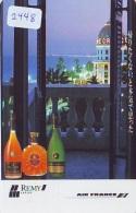 Télécarte  JAPON * AIR FRANCE (2448) ALCOOL * REMI MARTIN * AVIATION * AIRLINE Phonecard  JAPAN AIRPLANE * FLUGZEUG - Avions