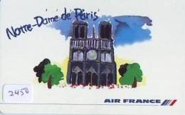 Télécarte  JAPON * AIR FRANCE (2450) NOTRE DAME * AVIATION * AIRLINE Phonecard  JAPAN AIRPLANE * FLUGZEUG - Avions