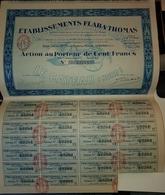 Rare Action Au Porteur De 100 Francs Flaba Thomas étude De Maître Macron - Agriculture