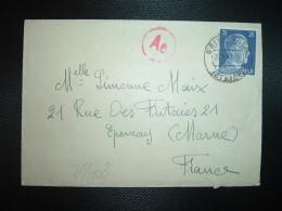 LETTRE Pour La FRANCE TP 25 OBL.22-4 43 GEISLINGEN + CENSURE - Marcophilie (Lettres)