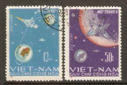 North Vietnam 1966 Mi# 448-449 Used - Luna 9 / Space - Space
