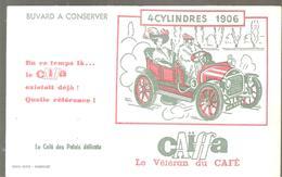 Buvard Caïffa Le Vétéran Du Café 4 Cylindres 1906 En Ce Temps Là ... Le Caïffa Existait Déjà! Quelle Référence - Café & Thé