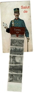 CPA À SYSTÈME - SALUT DE FURNES / VEURNE - Circulée En 1912 - 3 Scans - Veurne