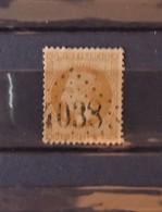 France N°28B Oblitéré 4038 : Trye Chateaux - Oise - 1863-1870 Napoléon III Lauré