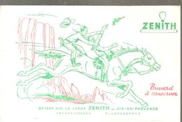 Buvard ZENITH Lampe ZENITH Cow Boy Rodéo - Electricité & Gaz