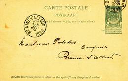 310/27 - Entier Postal Armoiries BRUXELLES 1898 Vers Polchet , Droguiste à BRAINE L' ALLEUD ( TB Cachet) - Entiers Postaux