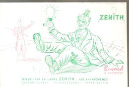 Buvard ZENITH Lampe ZENITH Deux Clowns Sur La Piste - Electricity & Gas
