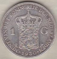 Netherlands.. 1 GULDEN 1930 . WILHELMINA .ARGENT - [ 3] 1815-… : Royaume Des Pays-Bas