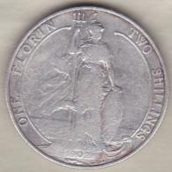 Grande Bretagne. 1 Florin 2 Shilling 1902 . Edward VII ,en Argent - J. 1 Florin / 2 Shillings