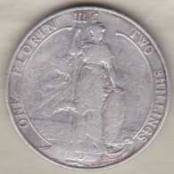 Grande Bretagne. 1 Florin 2 Shilling 1902 . Edward VII ,en Argent - 1902-1971: Postviktorianische Münzen