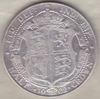 Grande Bretagne. Half Crown 1902 . Edward VII ,en Argent - 1902-1971: Postviktorianische Münzen