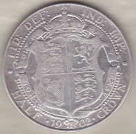 Grande Bretagne. Half Crown 1902 . Edward VII ,en Argent - 1902-1971 : Monnaies Post-Victoriennes