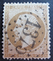 R1494/225 - NAPOLEON III N°21b Bistre-brun - GC 1375 : ECOMMOY (Sarthe) INDICE 4 - 1862 Napoleon III